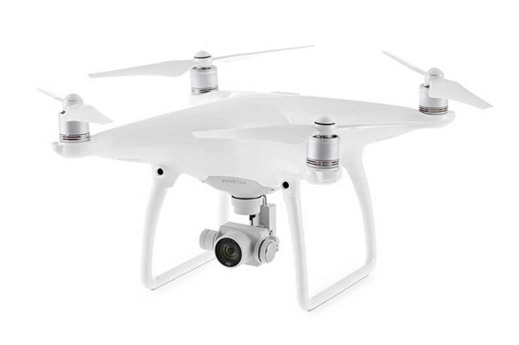 drone dji phantom 4 total white