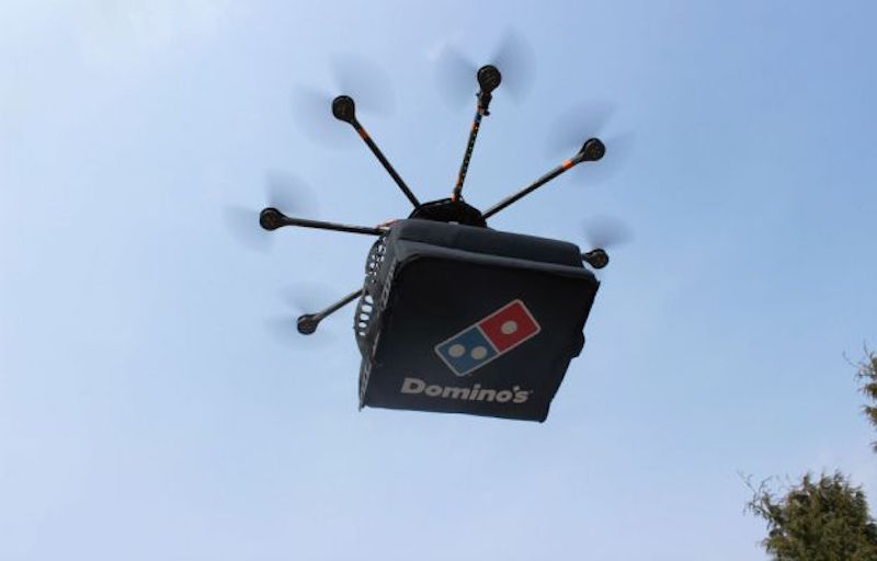 drone pizza domino
