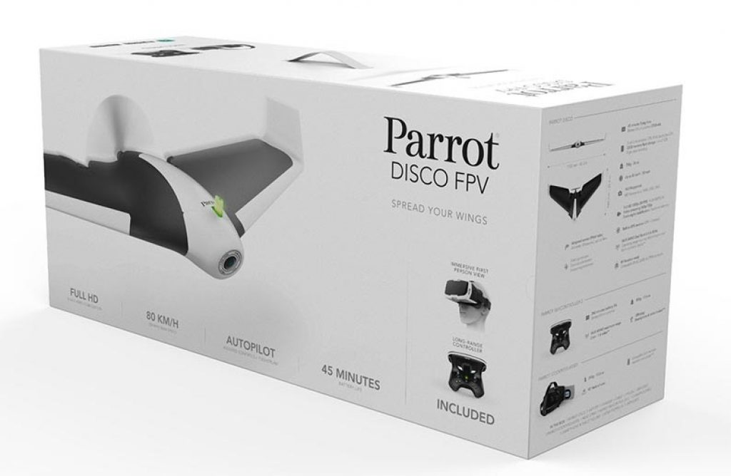 scatola parrot disco unboxing